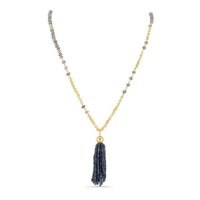 Swoonery-Rondelle Labradorite Rosary