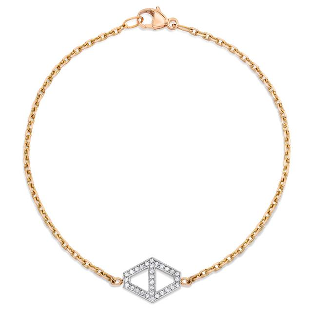 Swoonery-Keynes Medium Diamond Hexagon Bracelet
