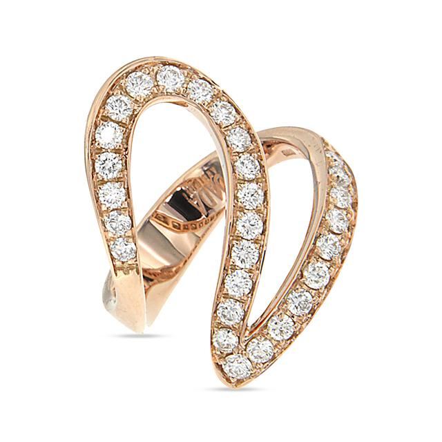 Swoonery-Rose Gold And Diamond Ivy 1 Ring