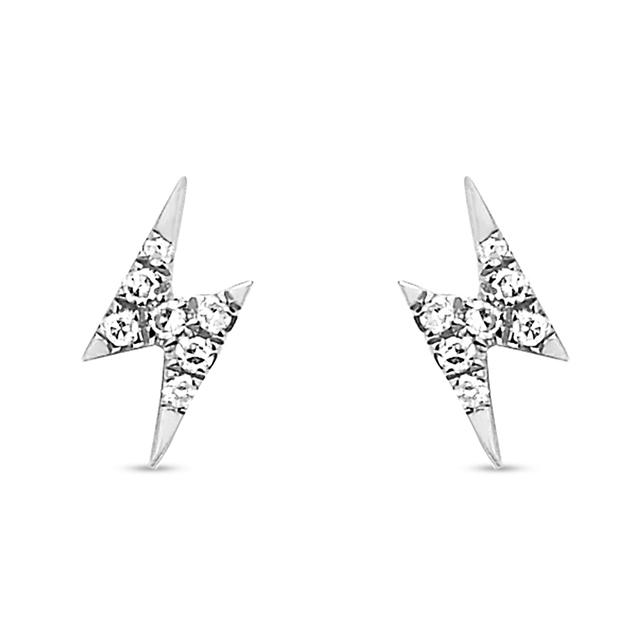 diamond mini buy item ef women bolt lightning shopping collection earring stud