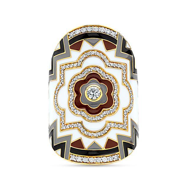 Swoonery-20K Enamel Wrap Ring