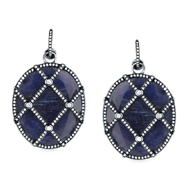 Swoonery-Quintessence Sapphire Earth Earrings