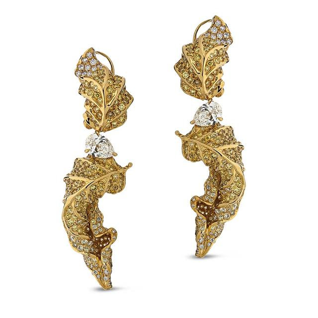 Swoonery-Feuille D'or Earing