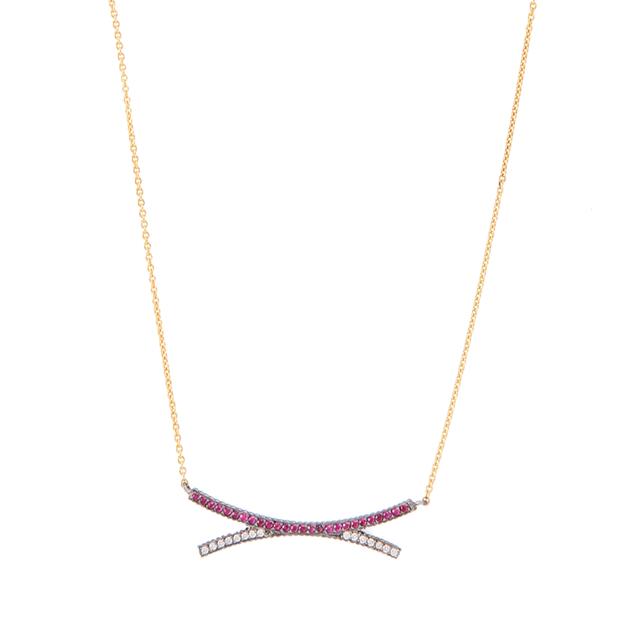Swoonery-Yossi Harari Lilah Crisscross Necklace