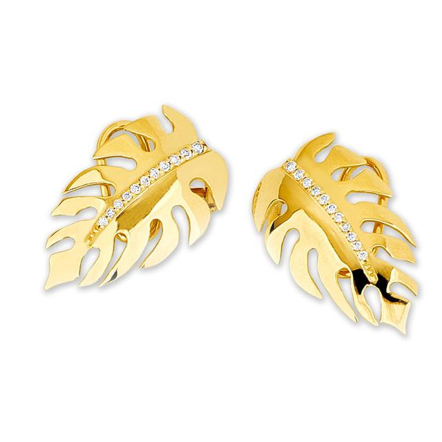 Swoonery-Monstera Mini earrings