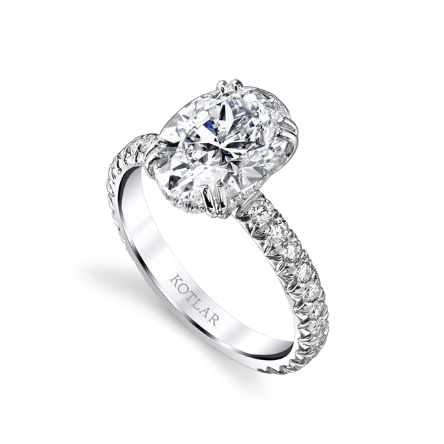 Swoonery-Oval French 2.5ct Cut Artisan Ring