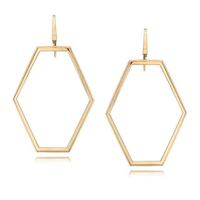 Swoonery-Keynes Open Hexagon Motif Earring