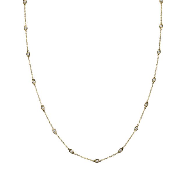 Swoonery-Marquis Segment Necklace