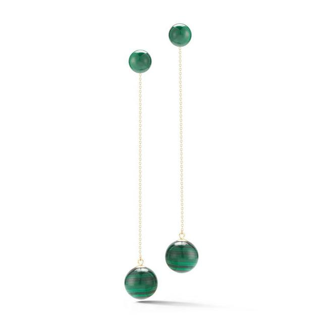 Swoonery-Malachite Ball Drop  Earring