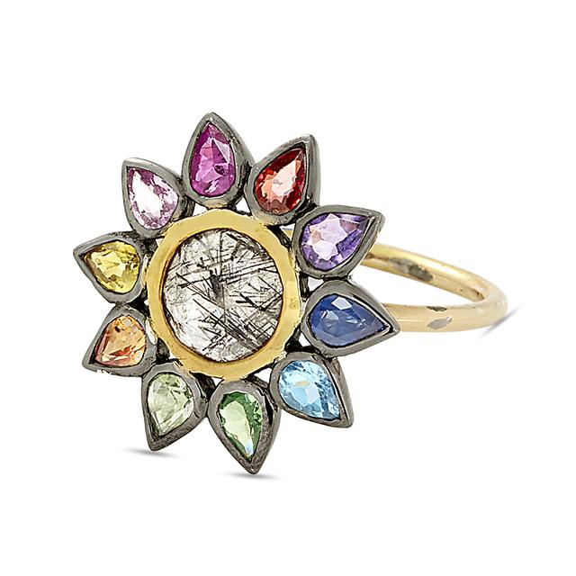 Swoonery-daisy cocktail ring