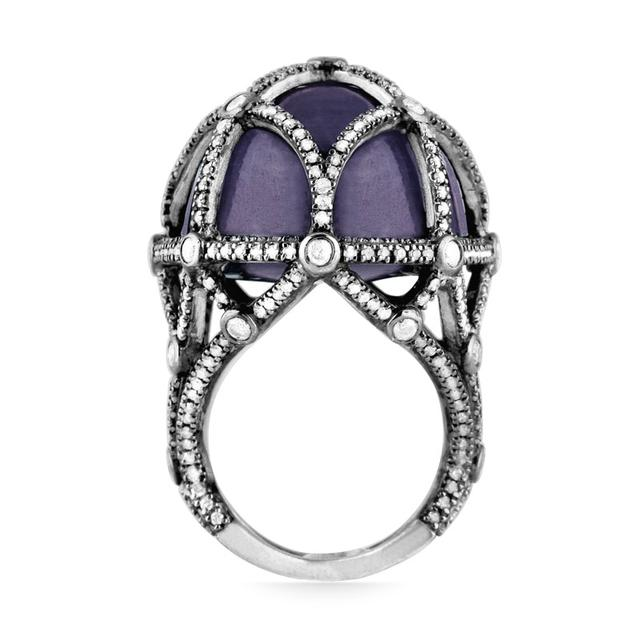 Swoonery-Quintessence Sapphire Earth Ring