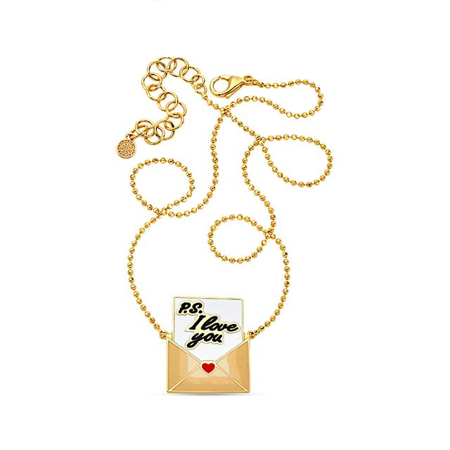Swoonery-20K P.S. I Love You Necklace