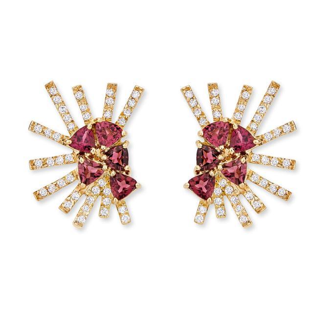 Swoonery-Parrot Mini earrings - Rubilite