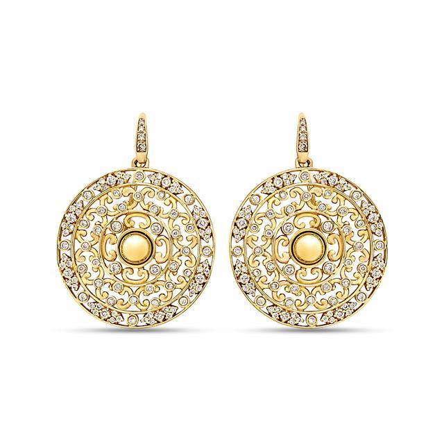 Swoonery-Mogul Champagne Diamond Earrings
