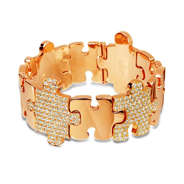 Swoonery-Rose Gold High Jewelry Puzzle Bracelet
