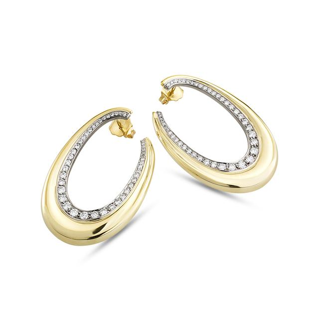 Swoonery-Ligne Diamond Oval Hoops