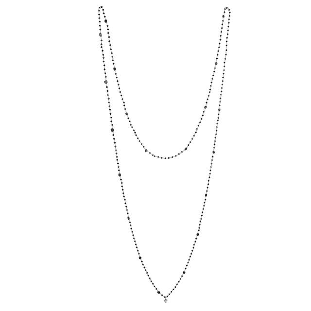 Swoonery-WHITE GOLD AND BLACK DIAMOND SAUTOIR