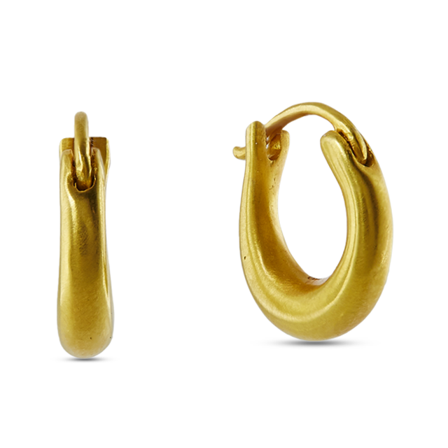 Swoonery- Jaipur Snap Closure Gold Hoops