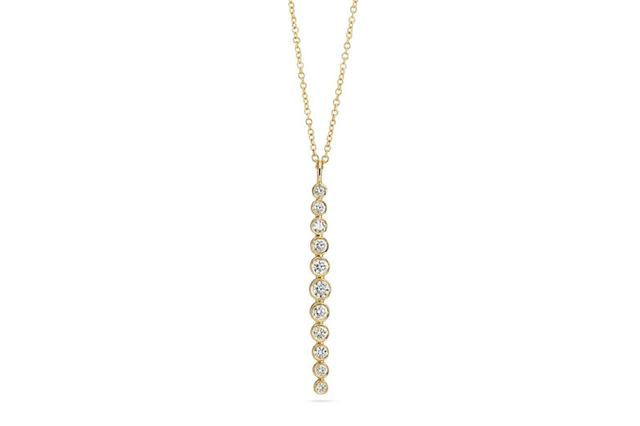 Swoonery-Multi Bezel Vertical Bar Necklace