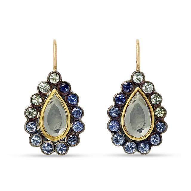Swoonery-Lakshmi Footprint Drop Earrings