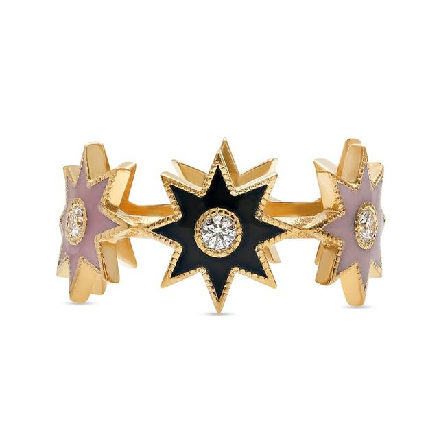 Swoonery-Aurora Twinkle Star Ring