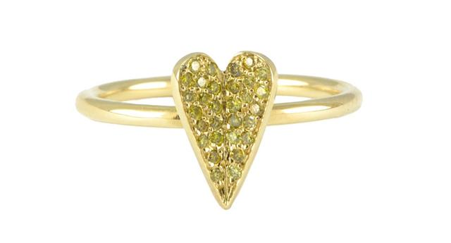Swoonery-Eros Heart Yellow Ring