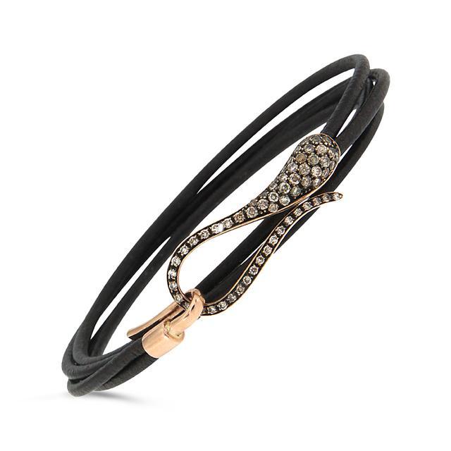 Swoonery-Burnished Rose Gold Elika Small Bracelet