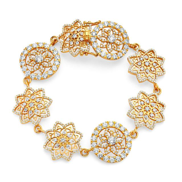 Swoonery-20K Mandala Station Bracelet