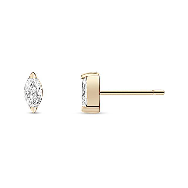 Swoonery-White Diamond Defne Studs