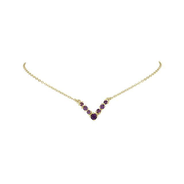 Swoonery-Amethyst Victory Choker