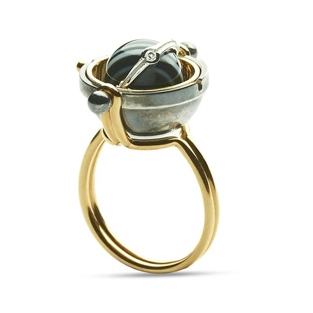 Swoonery-Onyx Pluton Ring