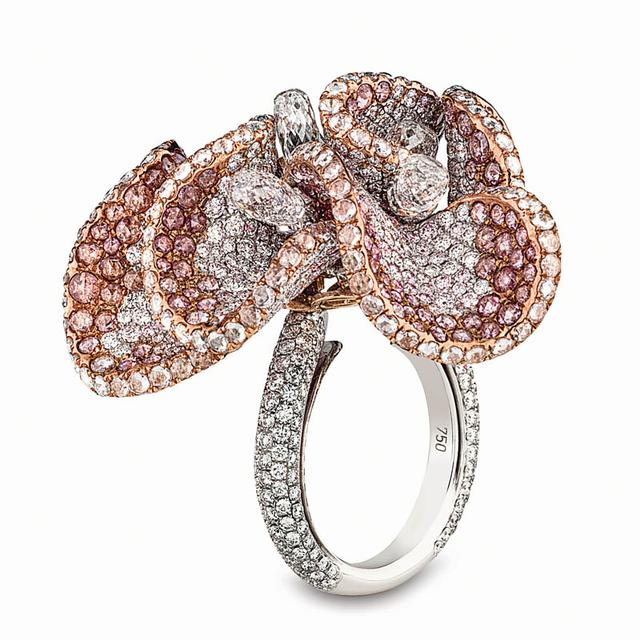 Swoonery-Pink Magnolia Ring