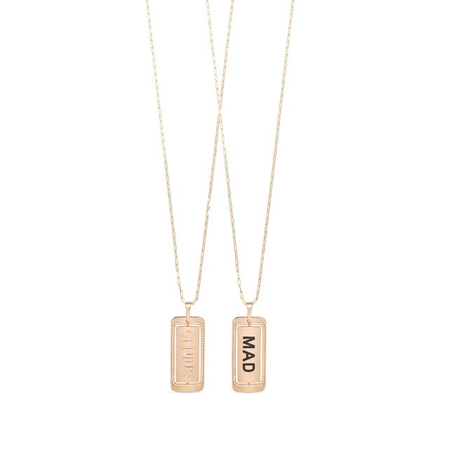 Swoonery-Mad Genius ID Tag Necklace