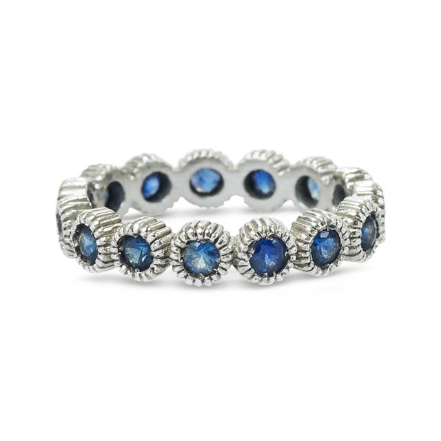 Swoonery-Youth Eternity Ring Sapphire