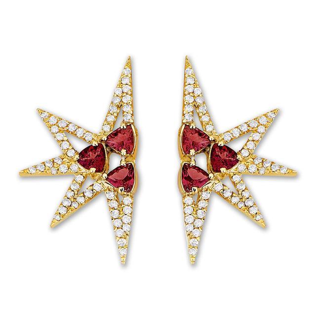 Swoonery-Shine Mini earrings - Ruby