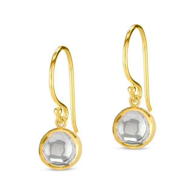 Swoonery-Kundan Vintage Diamond Round Drop Earrings