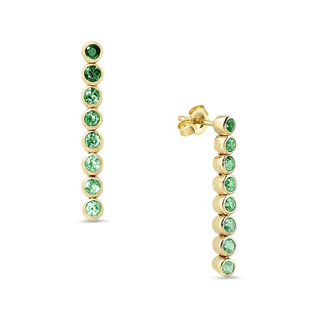 Swoonery-Green 8 Drop Earrings