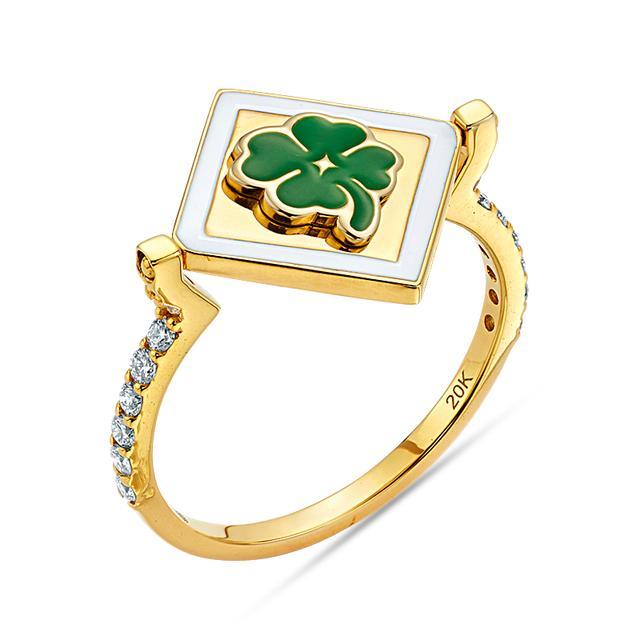Swoonery-20K Lucky Flip Ring