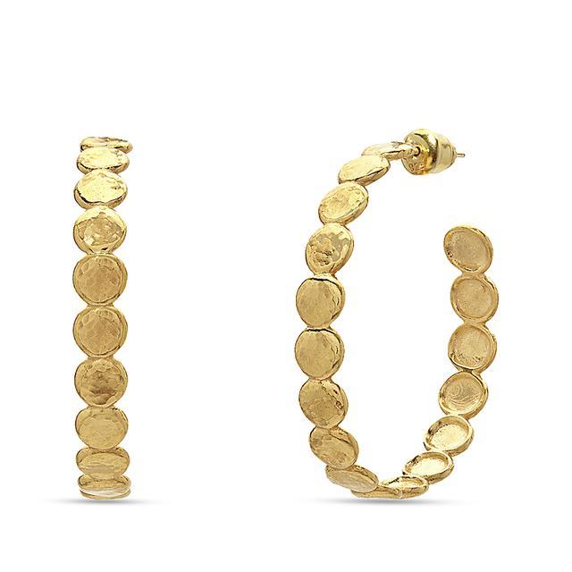 Swoonery-Pebble Hoop Earrings