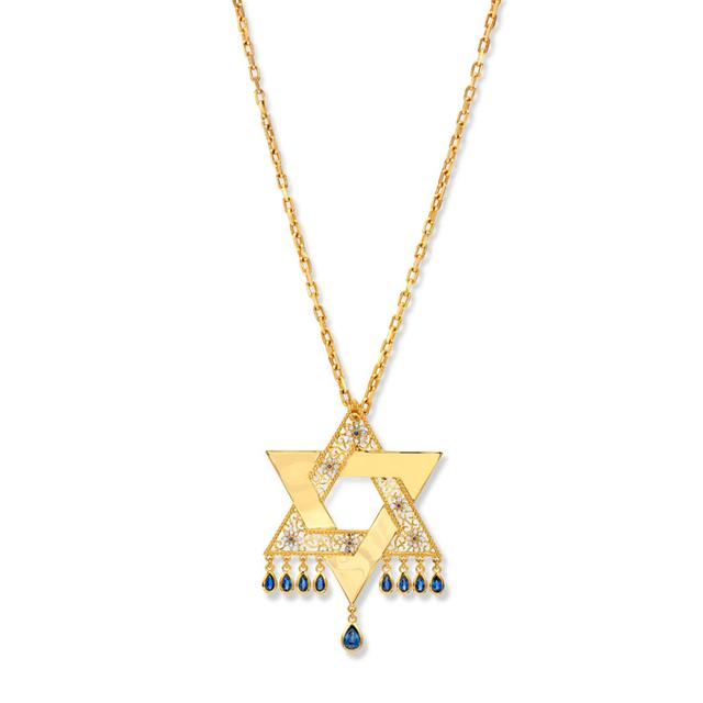 Swoonery-20K Star Of David Pendant