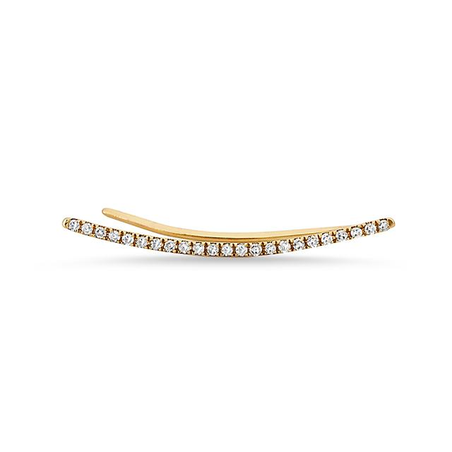 Swoonery-Curved Bar Ear Cuff