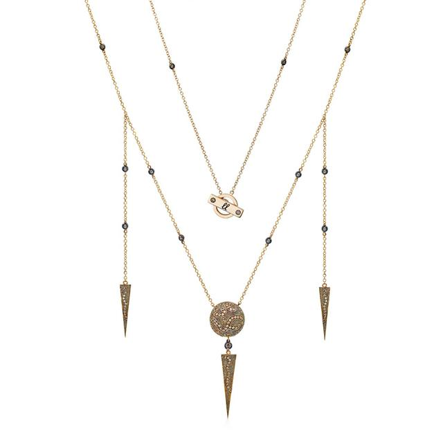 Swoonery-BROWN DIAMOND NECKLACE