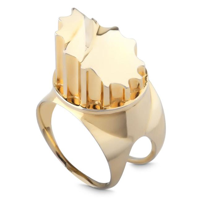 Swoonery-GOLD VERMEIL INCOMPLETE COLUMN RING
