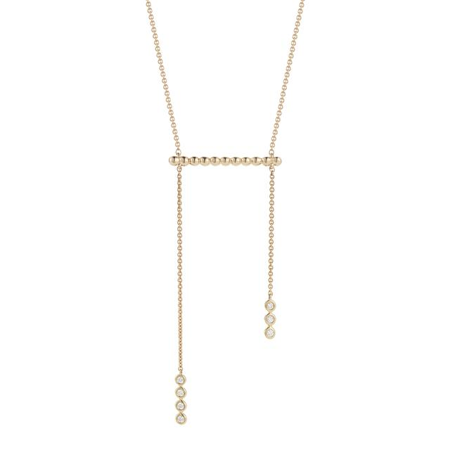 Swoonery-Sylvie Rose Pebbled Bar Necklace