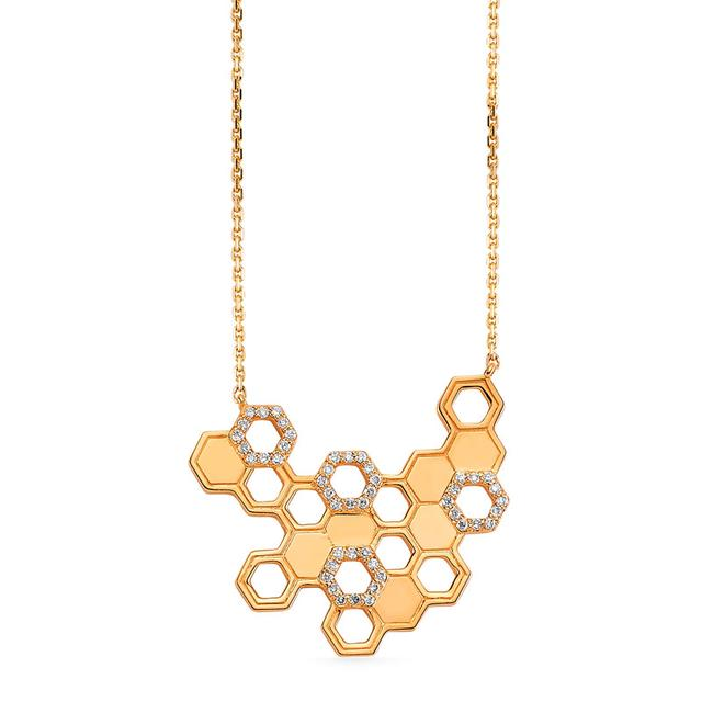 Swoonery-Queen Bee Honeycomb Pendant