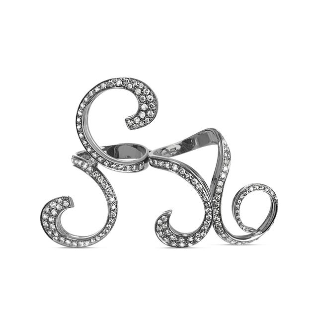 Swoonery-Double Finger Curls Ring