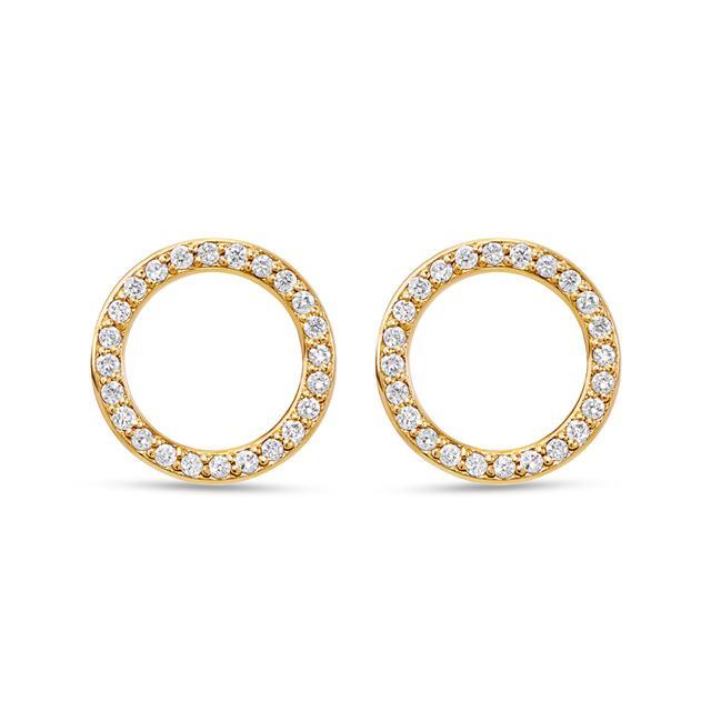 Swoonery-Round Studs with Diamonds