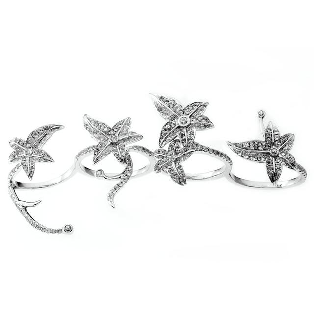 Swoonery-Poison Ivy Four Fingers Ring