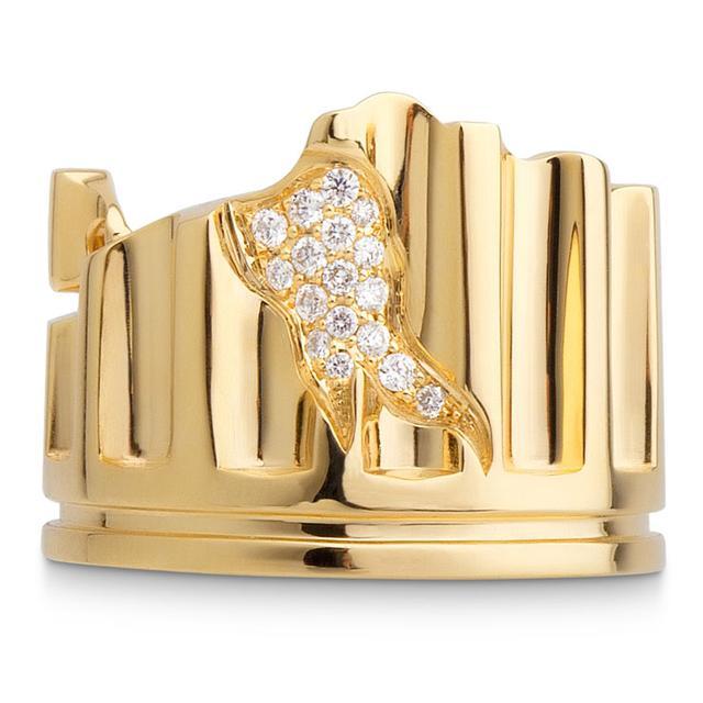 Swoonery-DIAMOND MINOR COLUMN FRAGMENT RING