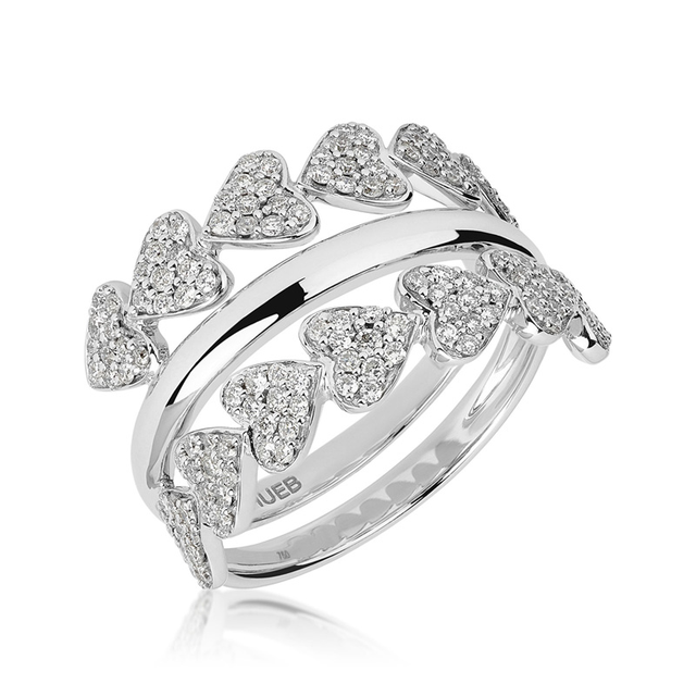 Swoonery-White Gold Heart Ring